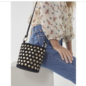 New w/ tag, urban outfitters black studded bag